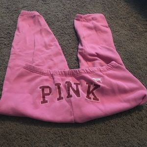 Pink sweatpants drawstring